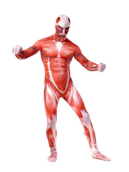 Attack on Titan Gigantic Titan Muscle Printed Zentai Suit