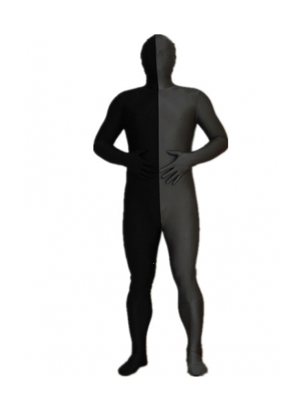 Black and Gray Tight Spandex Zentai Suits