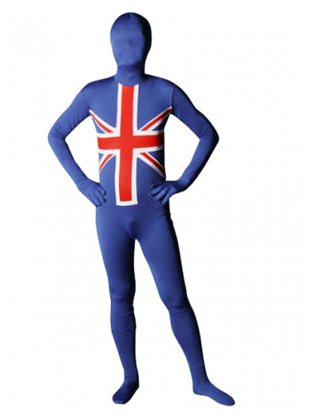 England Flag Lycra Spandex Full Body Zentai Suit
