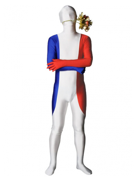 France Flag Lycra Spandex Full Body Zentai Suit