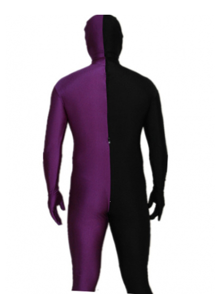Purple and Black Tight Lycra Spandex Zentai Suits