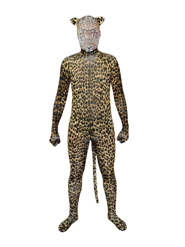 2014 New Simulated Leopards Fullbody Zentai Suit