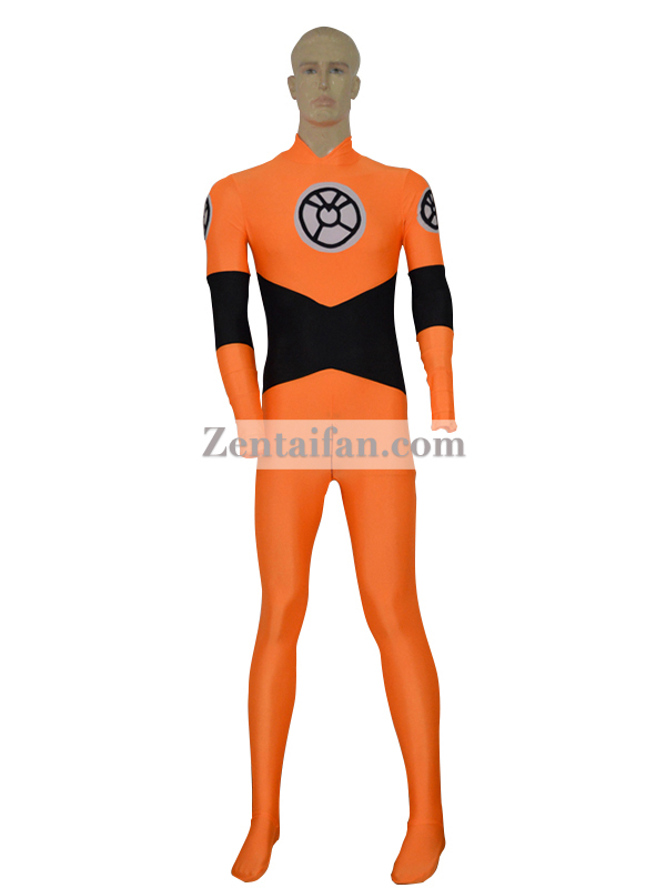 2017 Custom Orange Lantern Spandex Superhero Suit