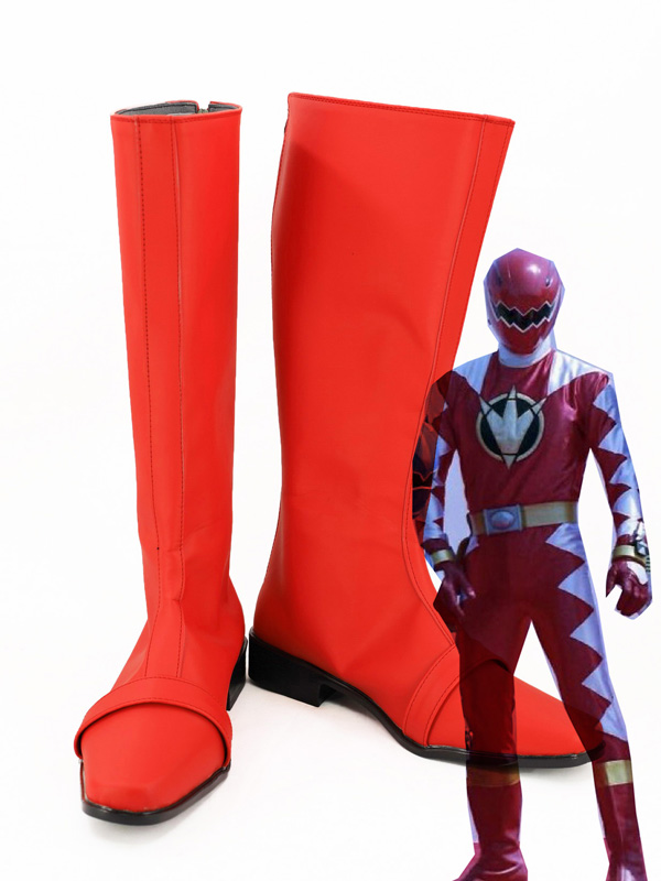Abare Red Cosplay Shoes Abaranger Ryoga Hakua Cosplay Boots