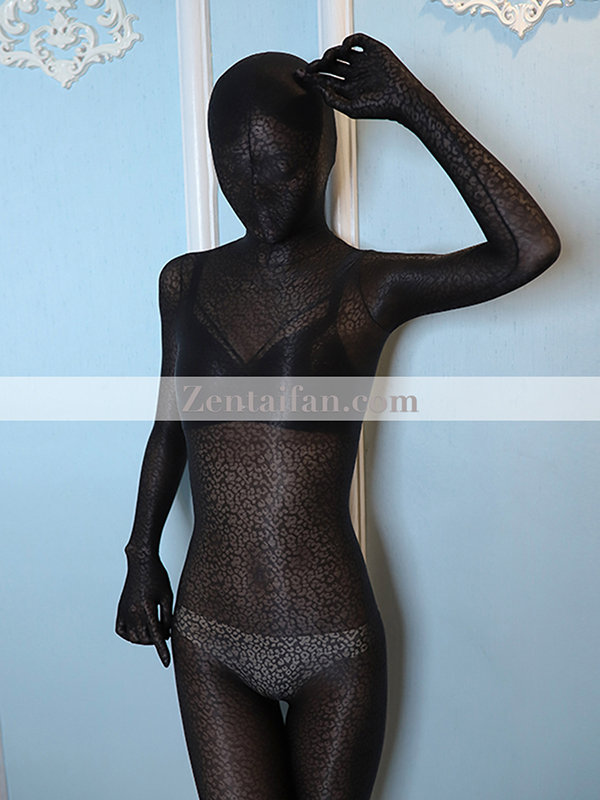 Animal Suit Sexy Fullbody Leopard Transparent Spandex Zentai