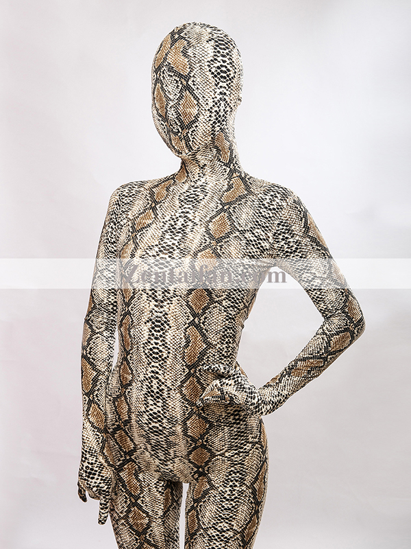 Animal Suit Sexy Fullbody Snakeskin Suit Animal Zentai