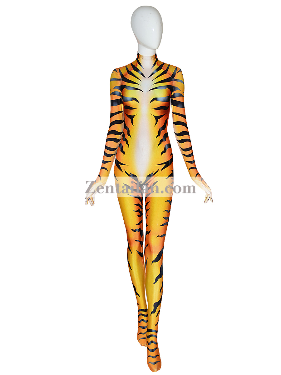 Animal Suit Sexy Fullbody Tiger Suit Animal Zentai