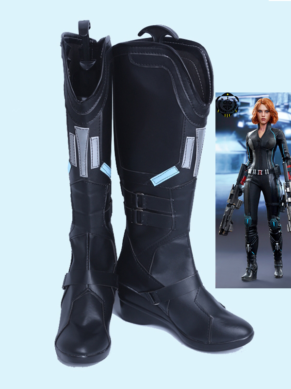 Avengers: Age of Ultron Black Widow Female Black Cosplay Boots