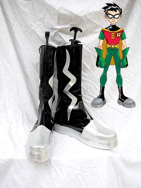 Batman Robin Teen Titans Artificial Leather Cosplay Boots