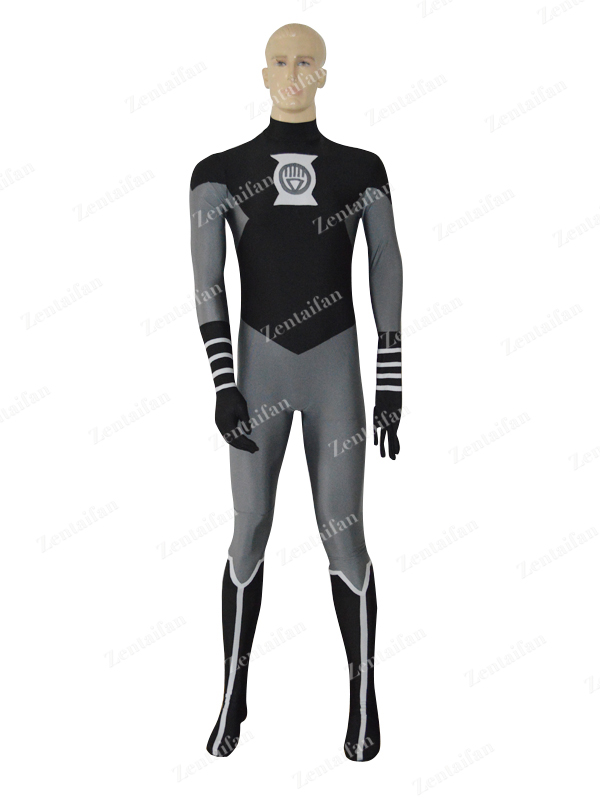 Black & Grey Lantern Crops Spandex Superhero Costume