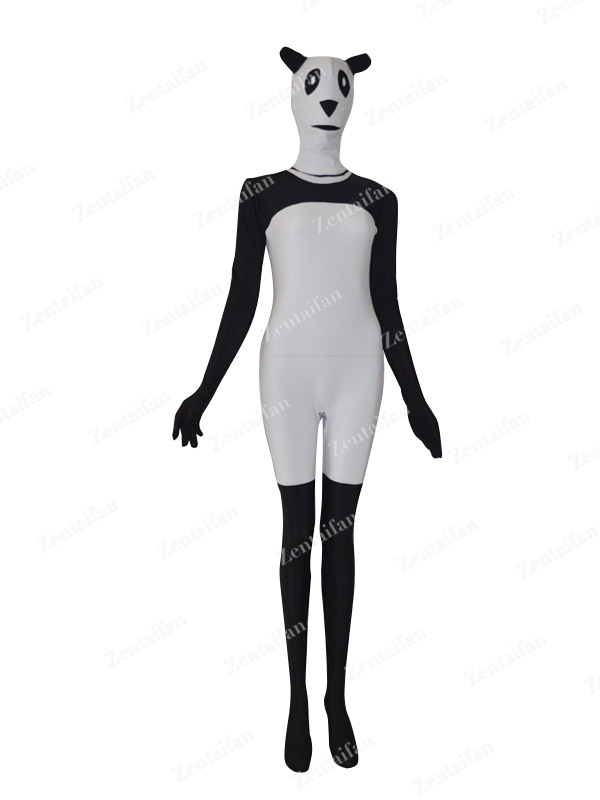Black & White Chinese Panda Custom Spandex Animal Suit