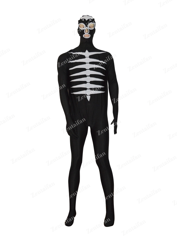 Black & White Shocker Combatmen Spandex Costume