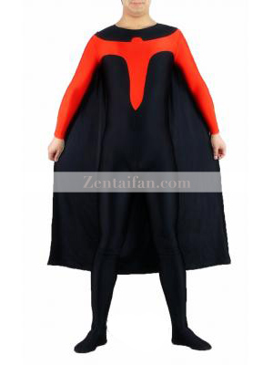 Black and Red Robin Superhero Costume
