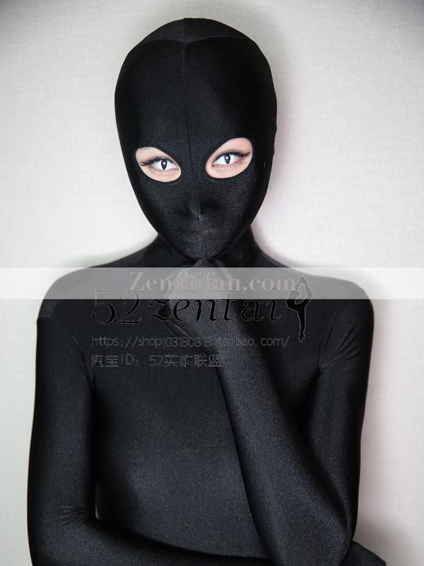 Black upgraded Spandex Full Body Zentai suit