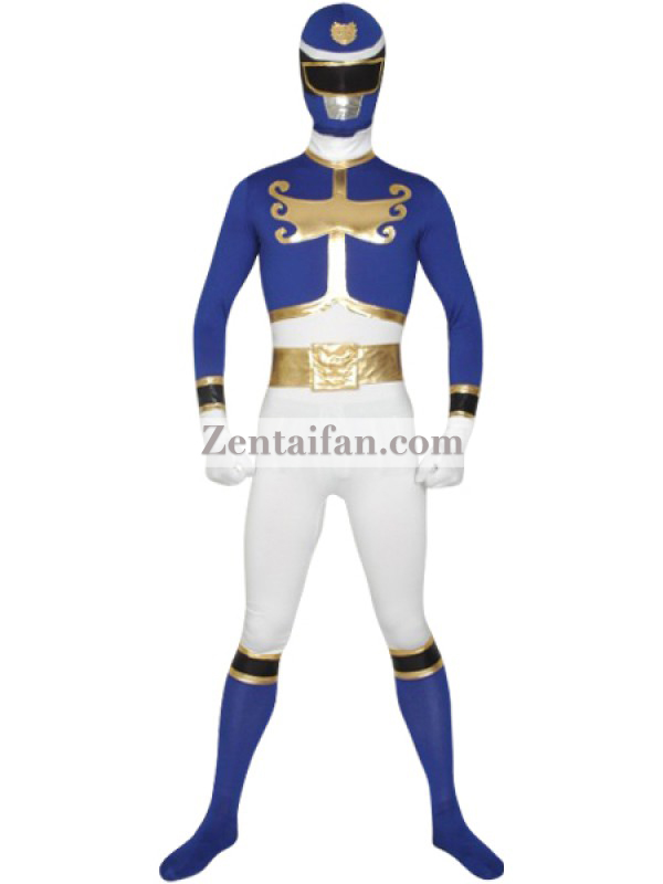 Blue Hyde Goseiger Power Rangers Superhero Costume