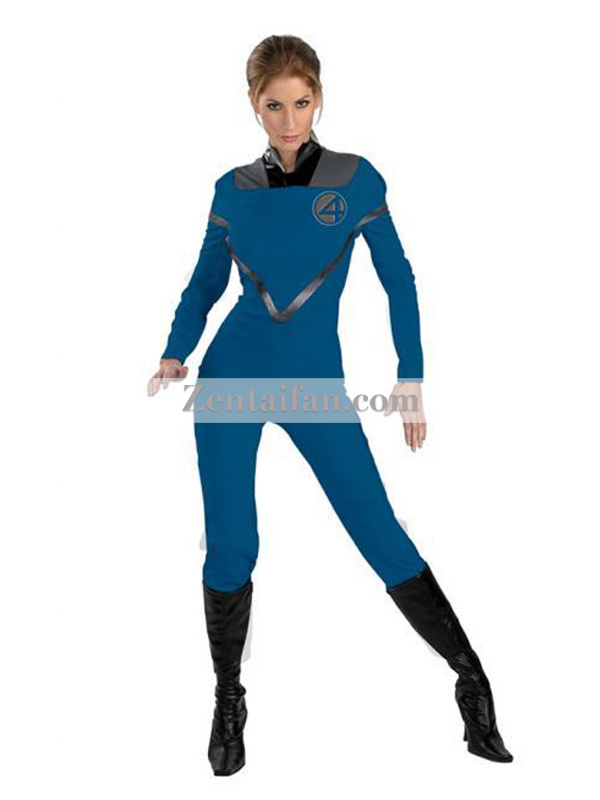 Blue Invisible Woman Fantastic Four Superhero Costume
