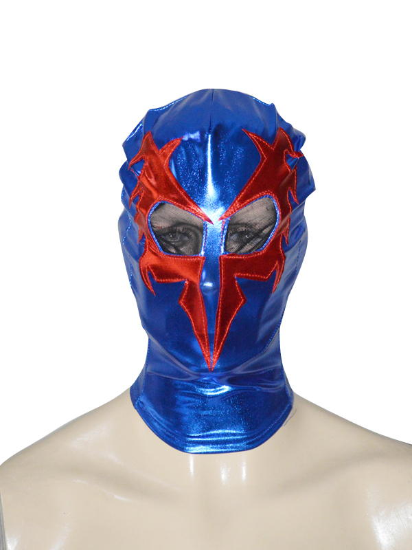 Blue & Red Spider-man 2099 Shiny Metallic Superhero Hood