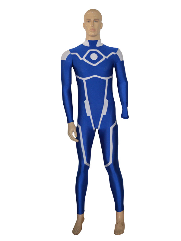 Blue & White New Power Ranger Custom Superhero Costume