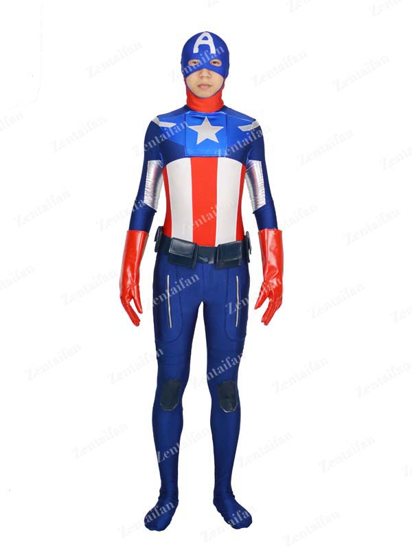 Delicate Captain America Superhero Costume