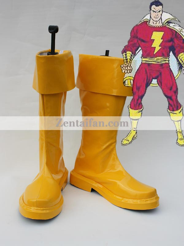 Captain Marvel Yellow Cosplay Boots