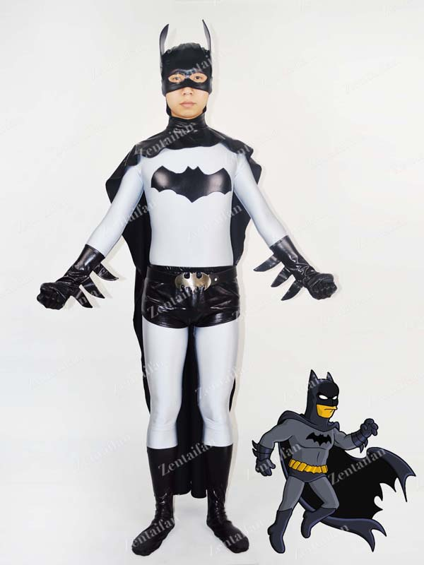 Classic Grey & Black Batman Superhero Zentai Suit