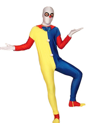 Colorful Clown Eyes Opened Spandex Unisex Zentai Suit