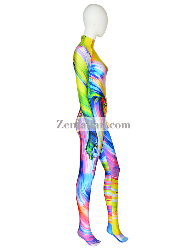 Colorful Fullboy Suit Halloween Spandex Zentai 3D Printed