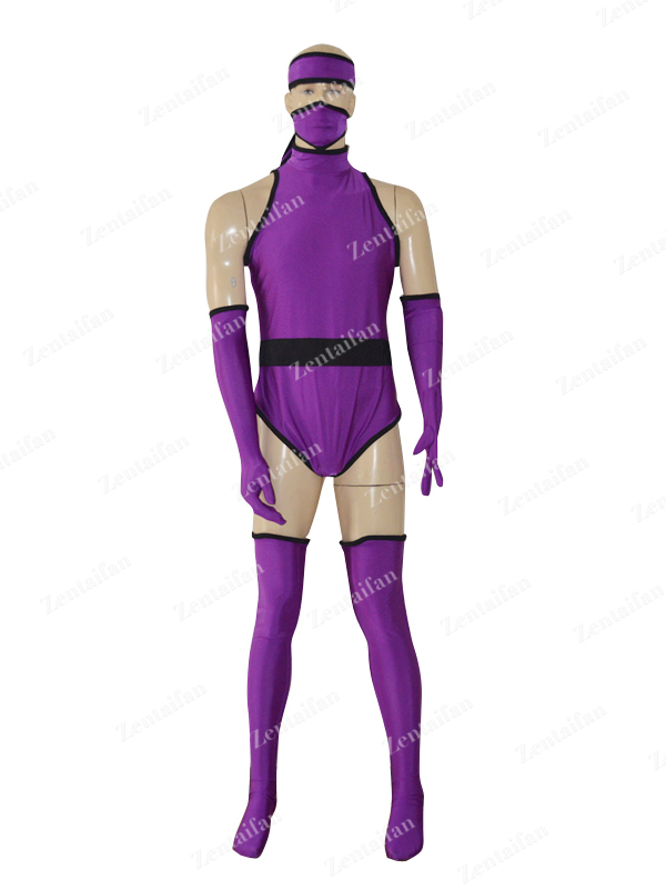 Custom Black & Purple Ninja Spandex Suit