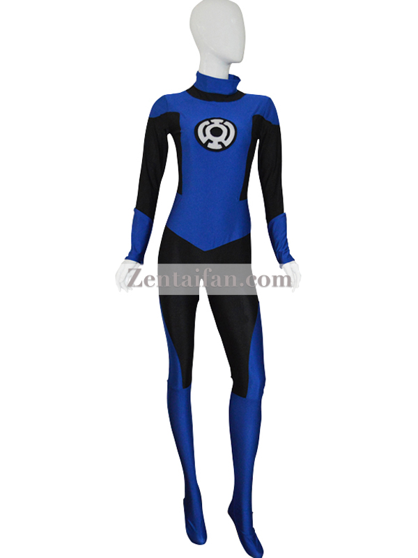 Custom Blue Lantern Crops Spandex Superhero Suit