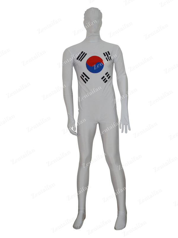 Custom Korea Flag Spandex Fullbody Zentai Suit
