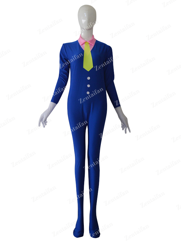 Custom Royal Blue Western Suit Style Fashion Tight Catsuit
