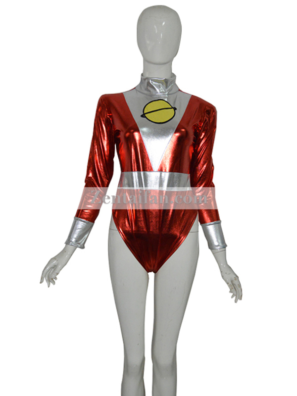 DC Comics Saturn Girl Shiny Metallic Superhero Leotards