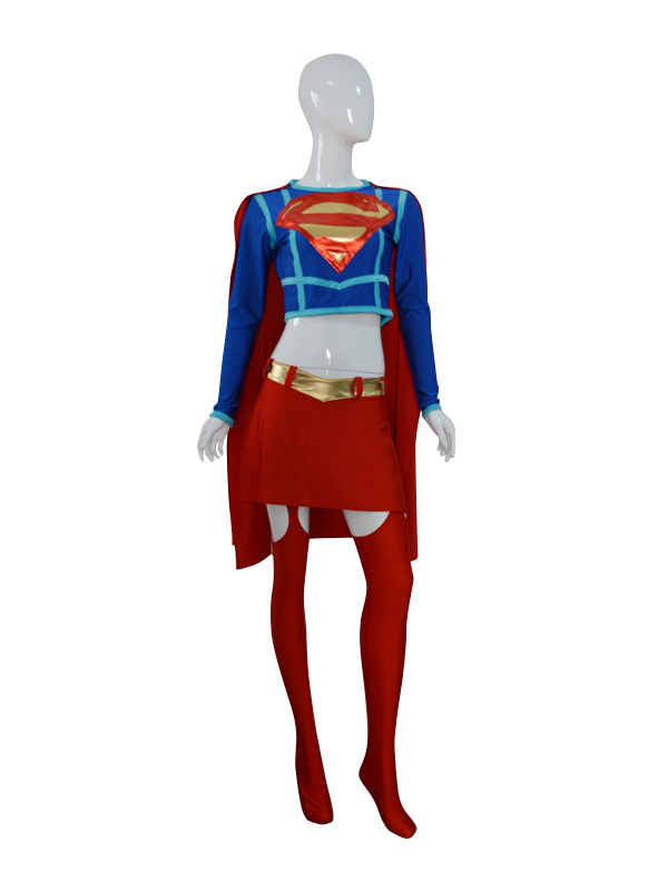 DC Comics Shiny Metallic Supergirl Female Superhero Costume