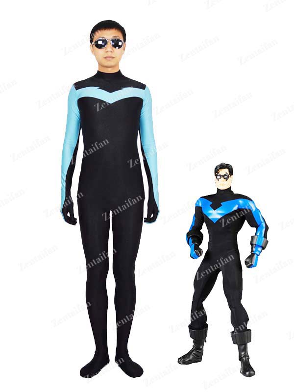 DC Comics Superhero Series Nightwing Costume / Zentai Suit