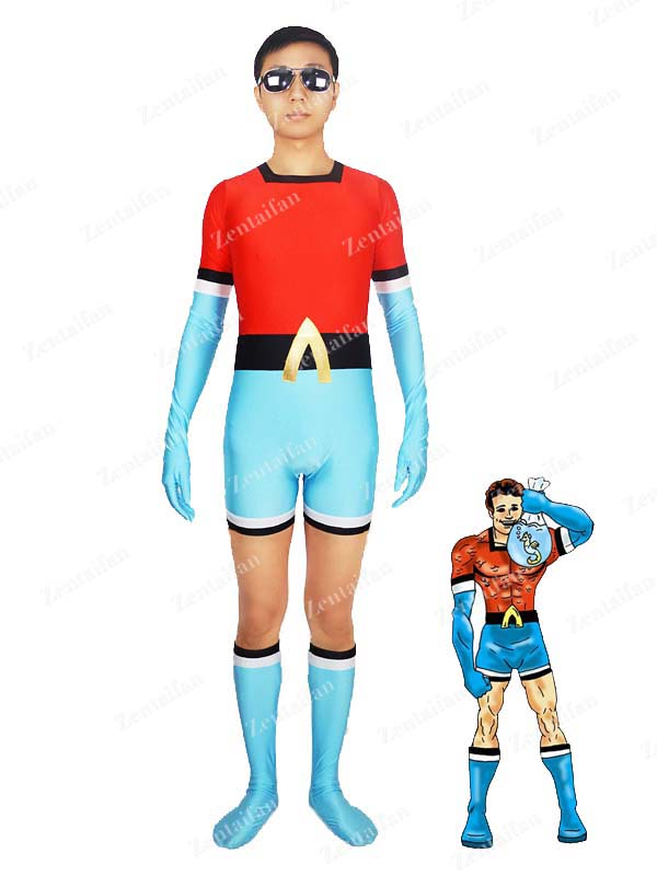DC Comics The 1st Aqualad Garth Spandex Zentai Suit