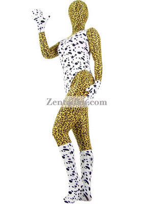 Dalmatians and Leopard Multicolor Lycra Zentai Suit