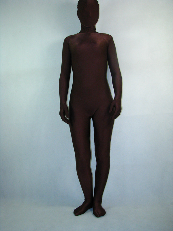 Dark Brown Unisex Lycra Spandex Zentai Suit