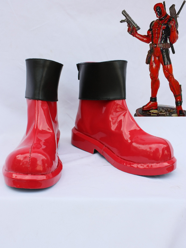 Deadpool Red Superhero Cosplay Boots