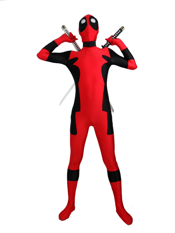 Deadpool Superhero Costume - Deadpool Lycra Spandex Suit