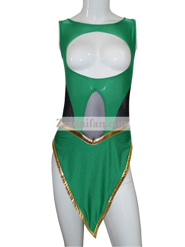 Deep Green & Black Spandex Custom Zentai Suit