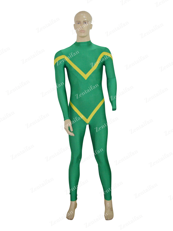 Deep Green & Yellow Custom Female Zentai Costume