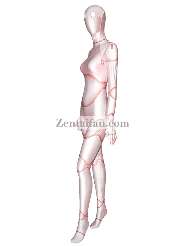 Doll Pattern Spandex Fullbody 3D Printed Lycra Suit