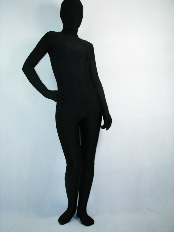 Full Body Black Lycra Spandex Zentai Suit