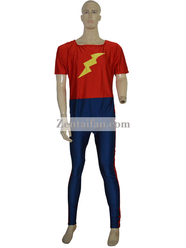 Golden Age Flash Jay Garrick Spandex Superhero Suit