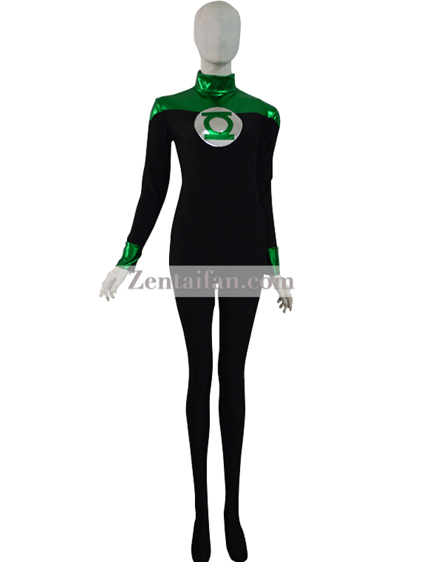 Green & Black Custom Green Lantern Superhero Costume