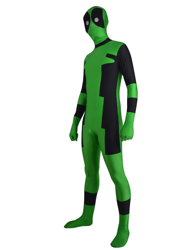 Green & Black Deadpool Costume