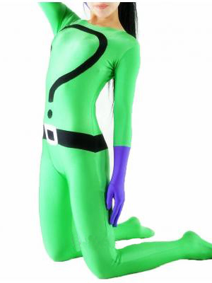 Green Lycra Unisex Superhero Costume