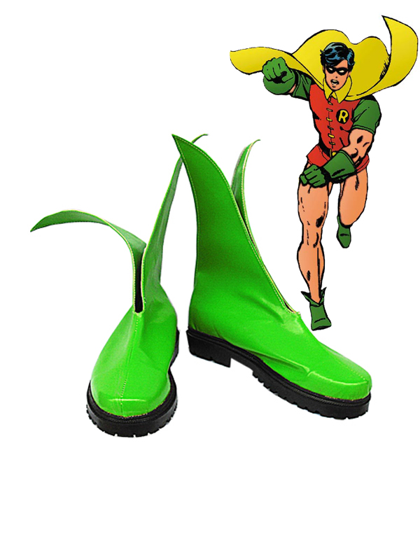 Green Robin Artificial Leather Cosplay Boots
