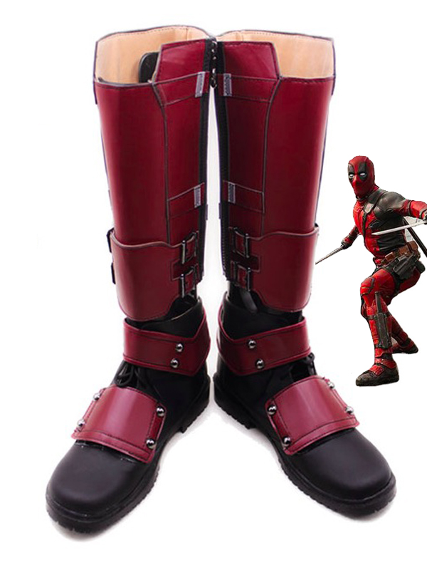 Hot Deadpool Superhero Boots Superhero Cosplay Boots