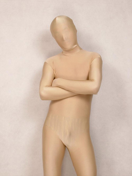 Ivory spandex Full body Zentai Suit